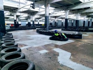 Indoor Go Karting Track with one kart