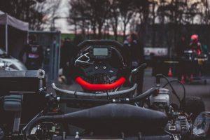 Close up of go karting car